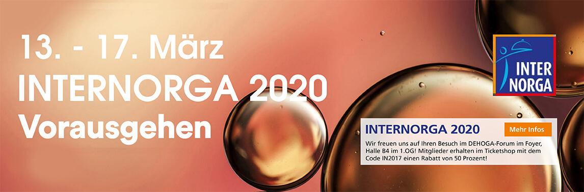 Slider – Internorga 2020 – Vorausgehen